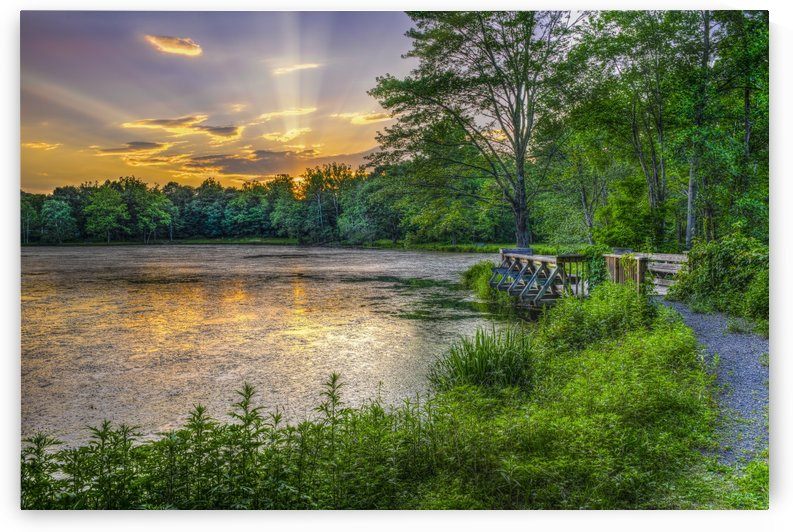 Lakeside sunset; Bushkill, Pennsylvania, United States of America by PacificStock
