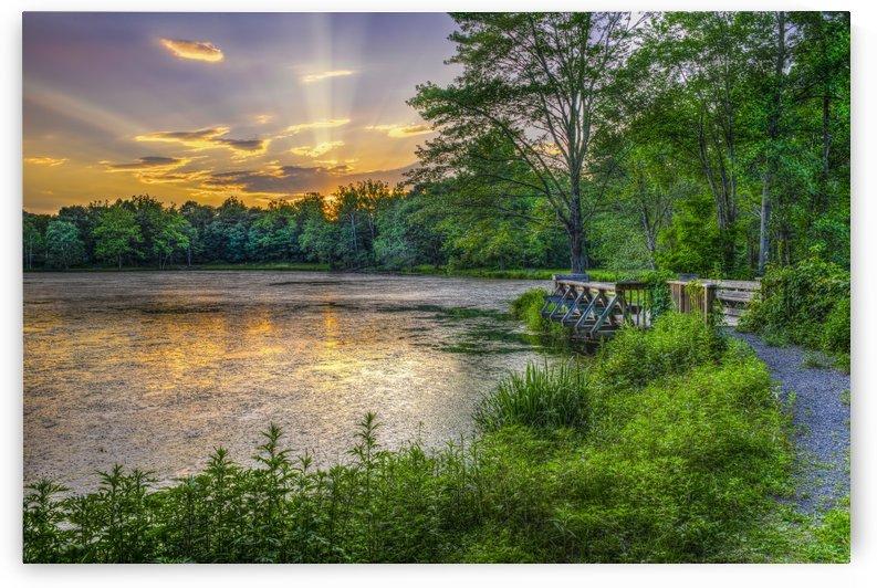 Lakeside sunset; Bushkill, Pennsylvania, United States of America by PacificStock
