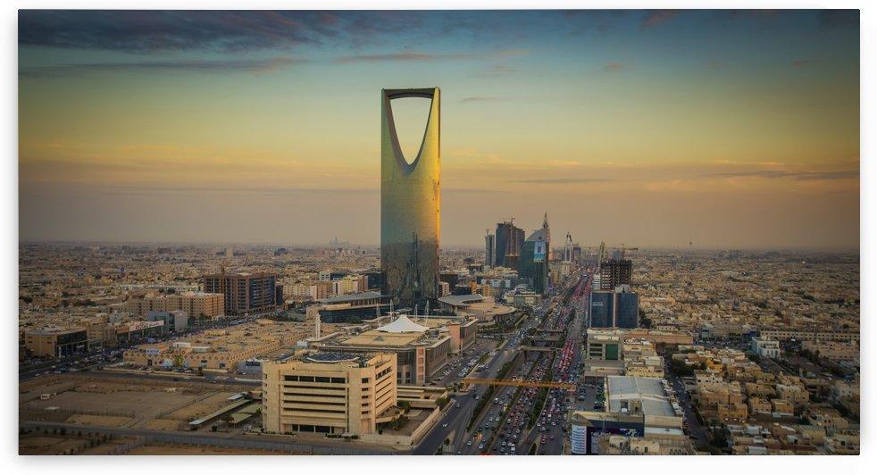 Sunset over Riyadh; Riyadh, Saudi Arabia by PacificStock