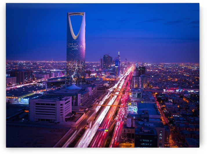 Sunset over Riyadh; Riyadh, Saudi Arabia by PacificStock