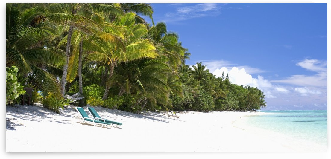 Pristine beach; Rarotonga, Cook Islands by PacificStock