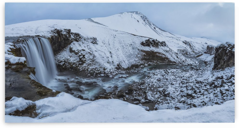 Unnamed waterfall and river in the highlands of Iceland; Iceland by PacificStock