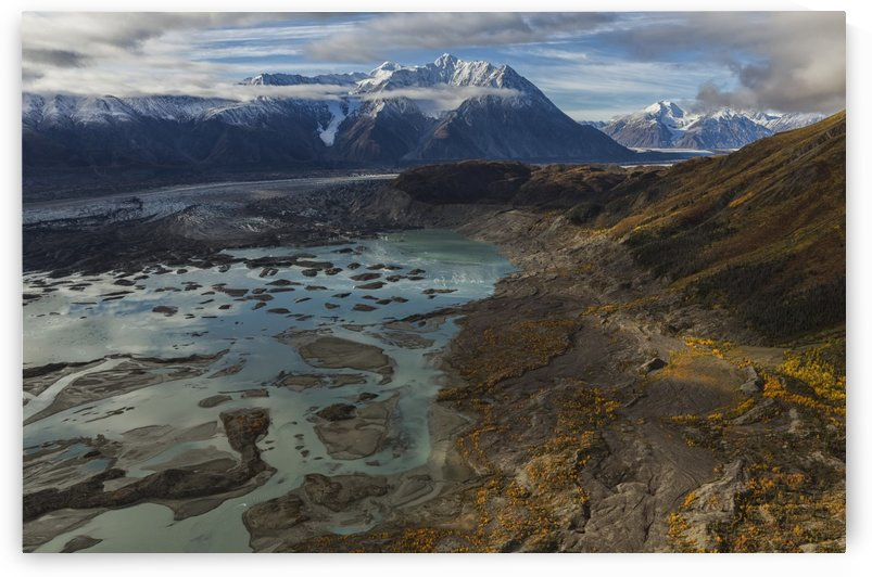 Kluane National Park and Reserve with Kaskawalsh Glacier and Mount Maxwell; Yukon, Canada by PacificStock