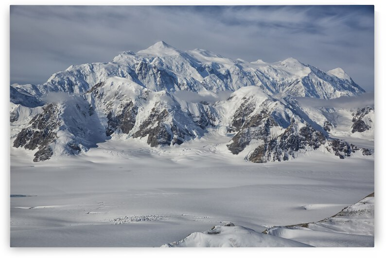 Aerial view of Mount Logan in Kluane National Park; Yukon, Canada by PacificStock