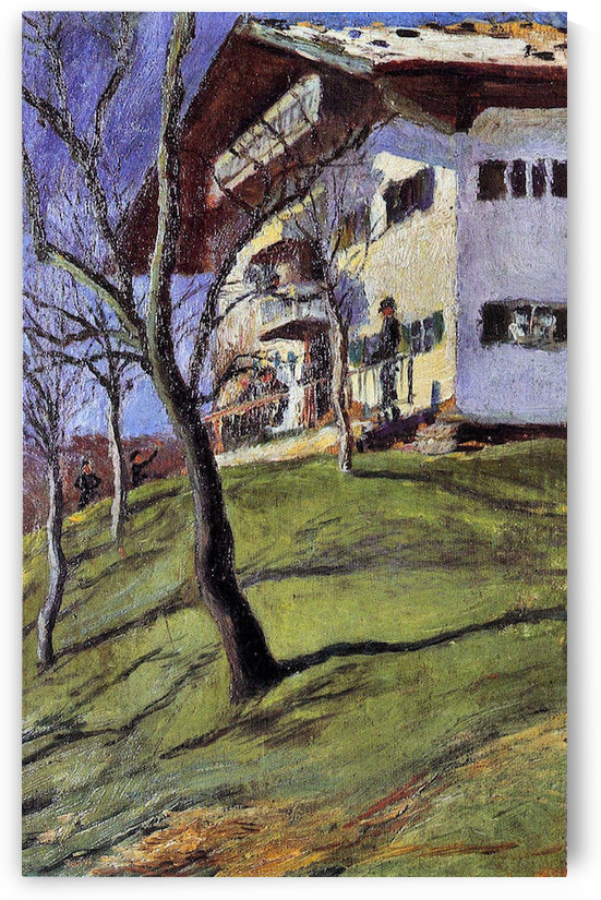 Our house in Tegern Sea by August Macke by August Macke