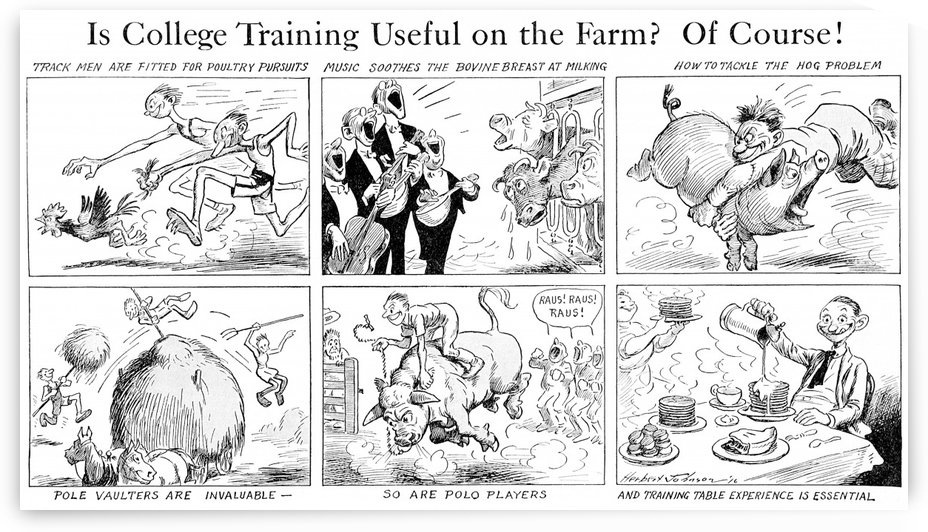 Comic strip in Country Gentleman agricultural magazine from the early 20th century. . by PacificStock