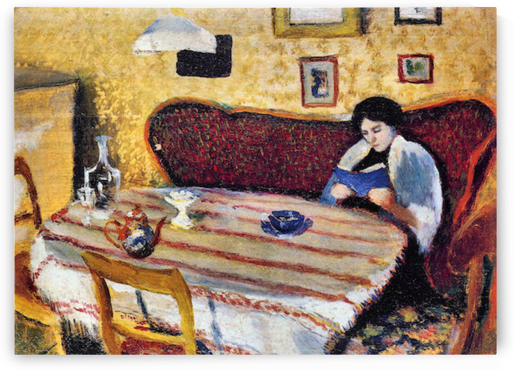 Our living room in Tegernsee by August Macke by August Macke