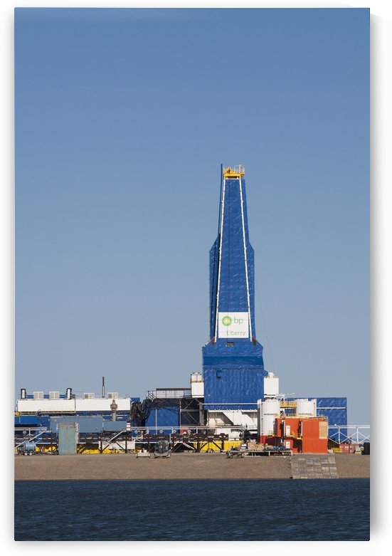 The Liberty Oil Rig in the Prudhoe Bay Oilfield on the North Slope, Arctic Alaska, Summer by PacificStock