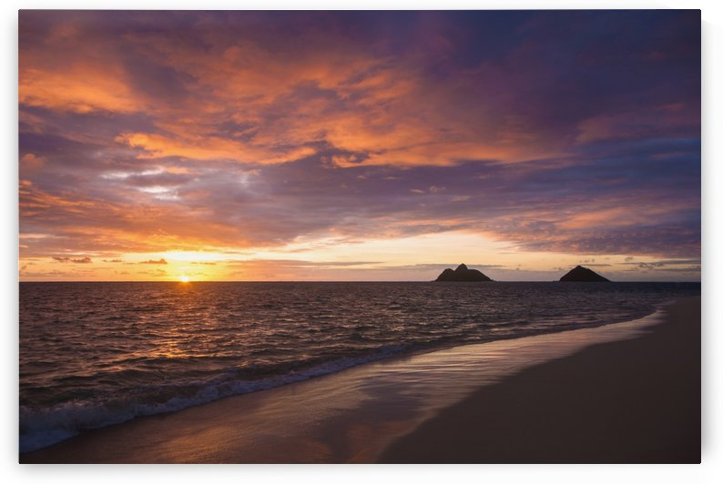 Sunrise at Lanikai beach; Kailua, Island of Hawaii, Hawaii, United States of America by PacificStock