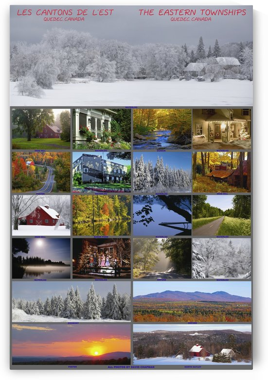 Composite of photographs from various seasons in the Eastern Townships; Waterloo, Quebec, Canada by PacificStock