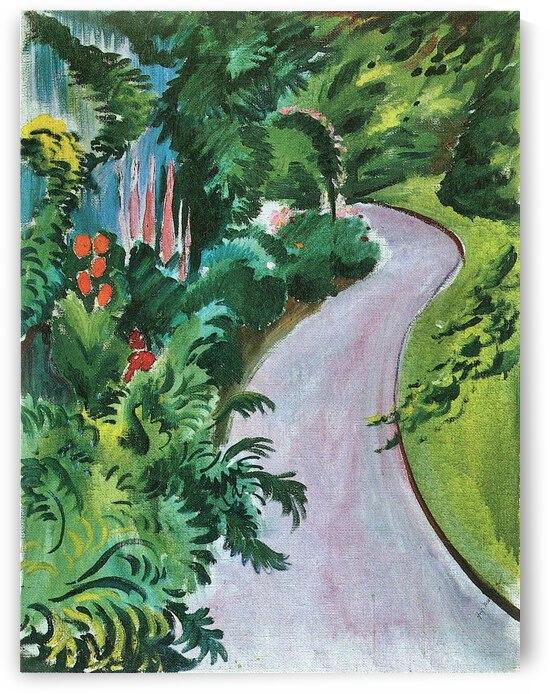Path in the garden by August Macke by August Macke