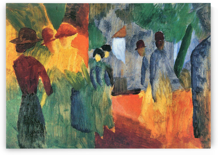 People in the park by August Macke by August Macke