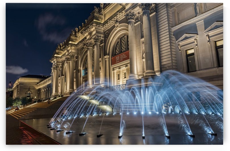 Metropolitan Museum of Art (MET) at twilight; New York City, New York, United States of America by PacificStock