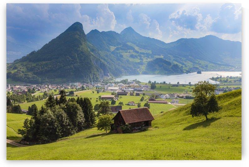 Seewen, a village on Lake Lauerz; Schwyz Canton, Switzerland by PacificStock