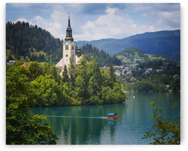 Church of the Assumption on Bled Island; Bled, Upper Carniola, Slovenia by PacificStock