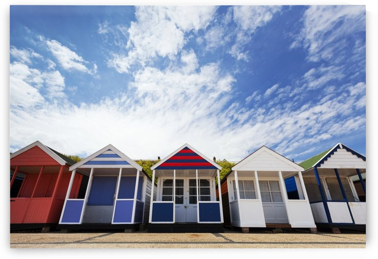 Colourful beach huts; Southwold, Suffolk, England by PacificStock