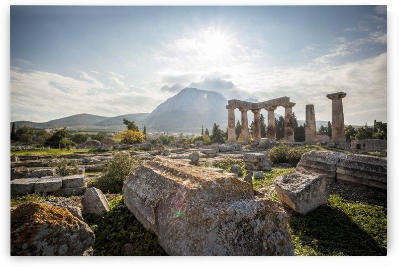 Stone ruins, Temple of Apollo; Corinth, Greece by PacificStock
