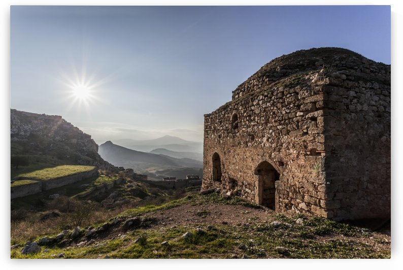 Ruins of a stone building; Corinth, Greece by PacificStock