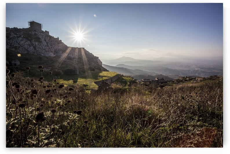 Ruins of a stone walls; Corinth, Greece by PacificStock