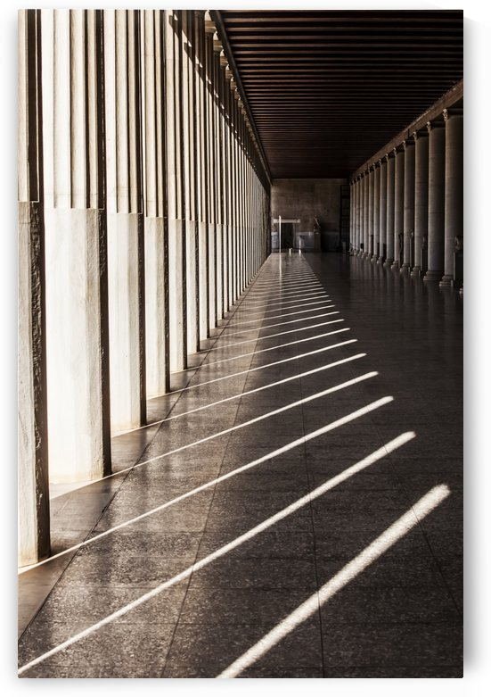 Walkway with columns, Ancient Agora Museum; Athens, Greece by PacificStock