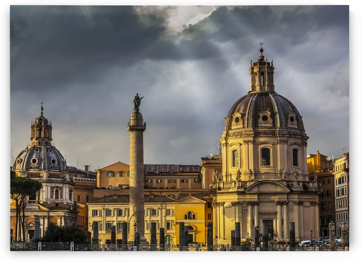 Santa Maria di Loreto Church and Trajan's Column; Rome, Italy by PacificStock