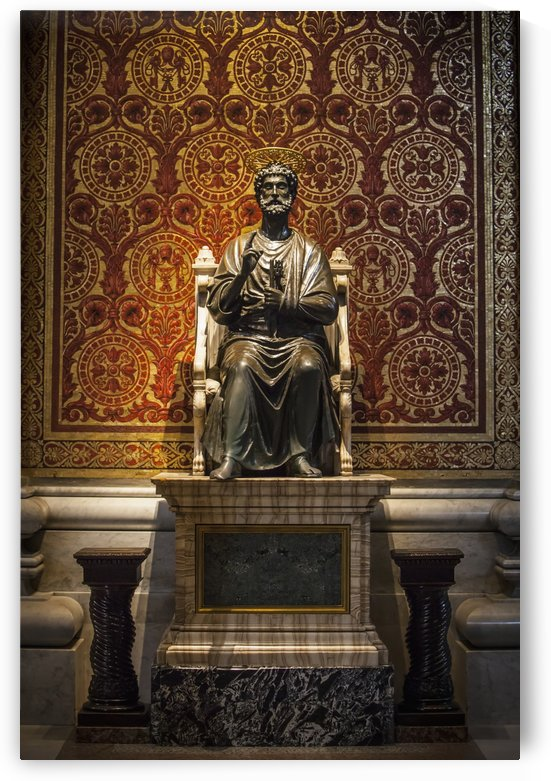 Ancient statue of Saint Peter, St. Peter's Basilica; Rome, Italy by PacificStock