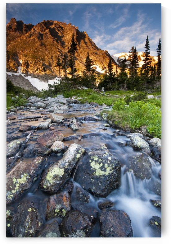 First light on Flattop Mountain near Lake Helene in Rocky Mountain National Park; Colorado, United States of America by PacificStock