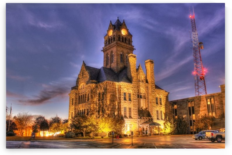 Twilight Courthouse by Marshall Rounds