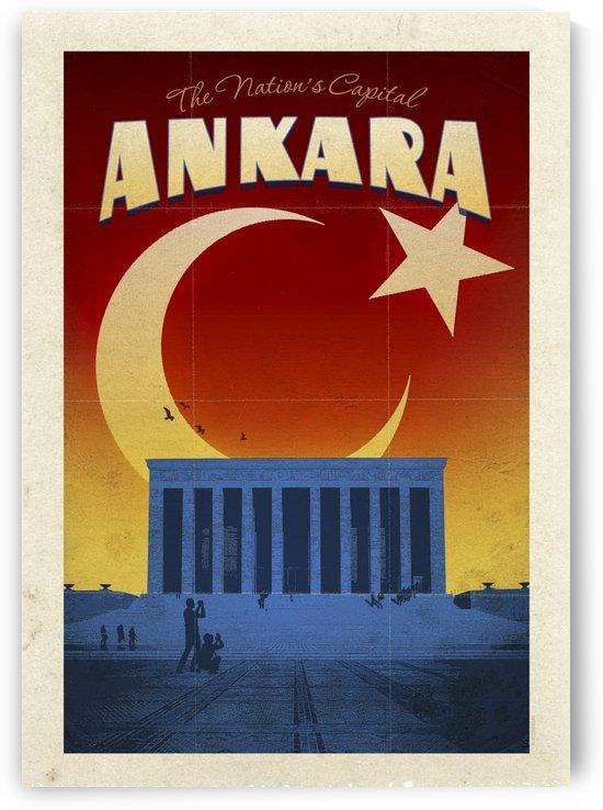 Turkey Ankara vintage travel poster by VINTAGE POSTER