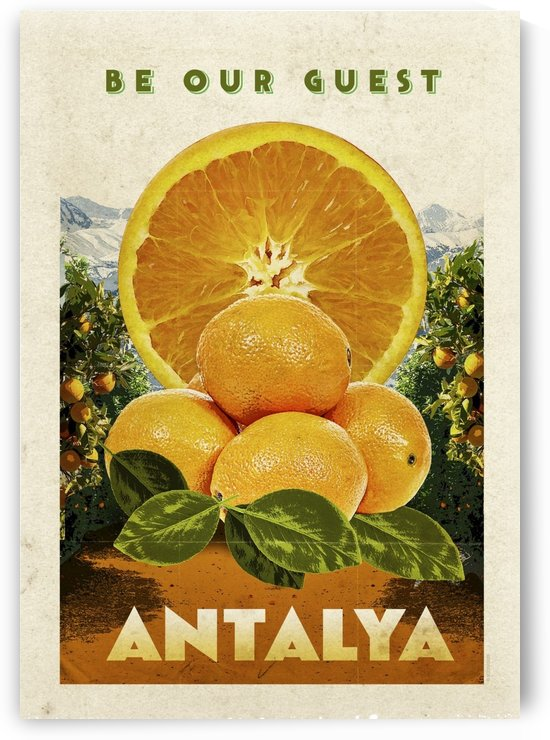 Turkey Antalya vintage travel poster by VINTAGE POSTER