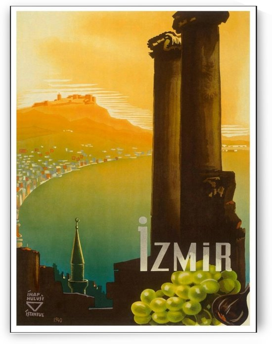 Turkey Izmir vintage travel poster by VINTAGE POSTER