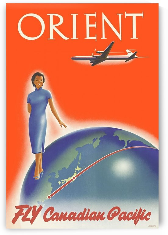 Fly Canadian Pacific Orient poster by VINTAGE POSTER