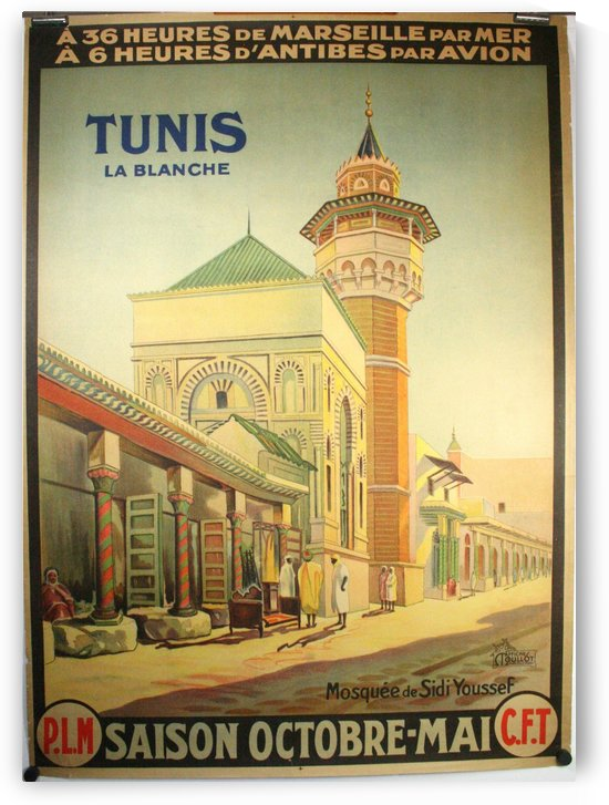 Tunis La Blanche vintage travel poster by VINTAGE POSTER