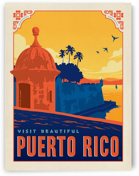 Visit Beautiful Puerto Rico poster by VINTAGE POSTER