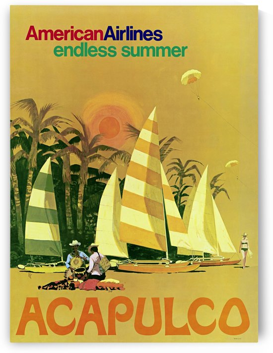 American Airlines endless summer Acapulco poster by VINTAGE POSTER