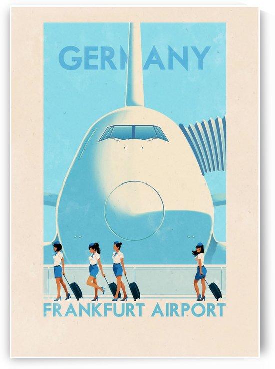 Germany Frankfurt Airport vintage poster by VINTAGE POSTER