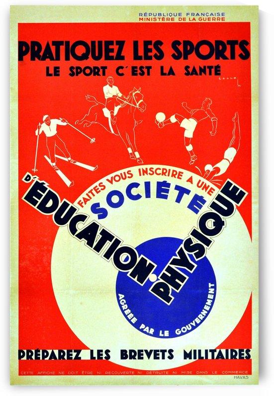Original 1932 Art Deco Sport Poster by VINTAGE POSTER