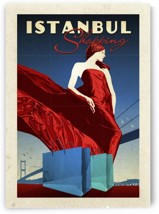 Turkey Istanbul Shopping vintage travel poster by VINTAGE POSTER