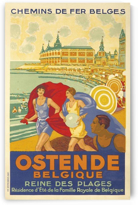 Ostende Belgique Reine des Plages poster by VINTAGE POSTER