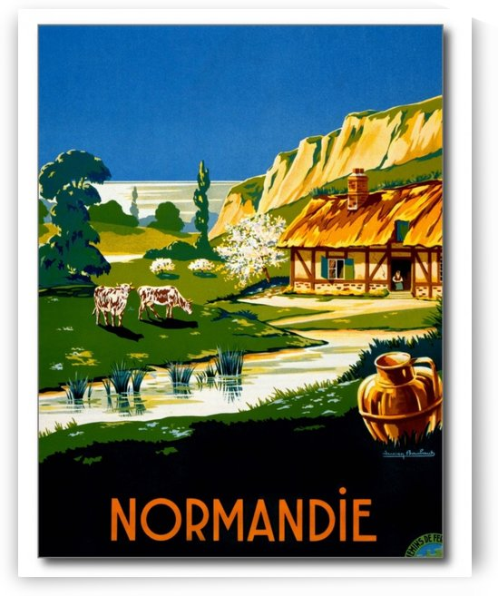 France Normandy Vintage Travel Poster by VINTAGE POSTER