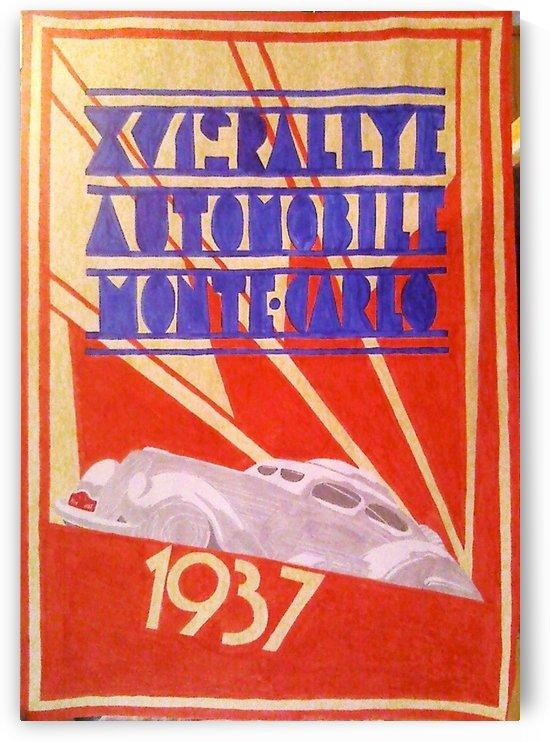 XVIe Rallye Monte Carlo 1937 car poster by VINTAGE POSTER