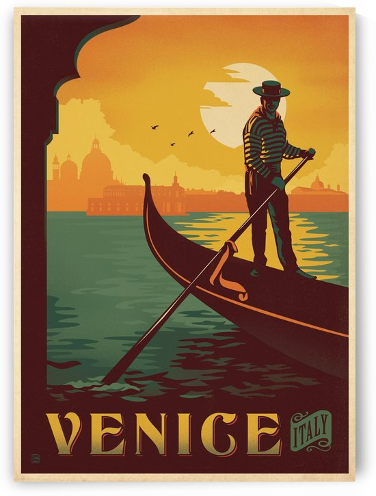 Venice vintage Italian poster by VINTAGE POSTER