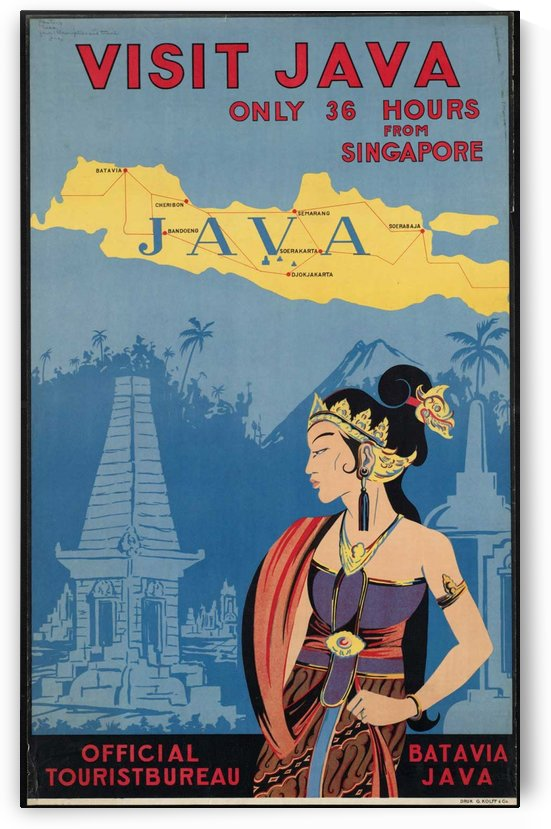 Visit Java travel poster by VINTAGE POSTER