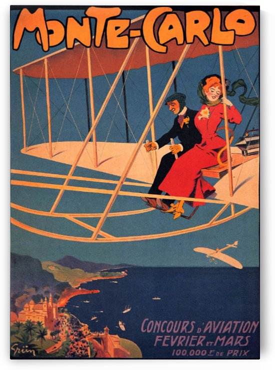 Monte Carlo flying tournament poster by VINTAGE POSTER