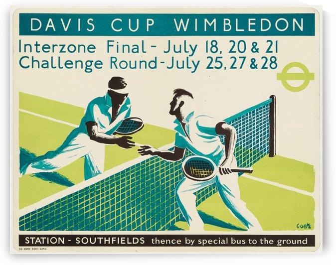 Walter Goetz Davis Cup Wimbledon Vintage Tennis Poster by VINTAGE POSTER