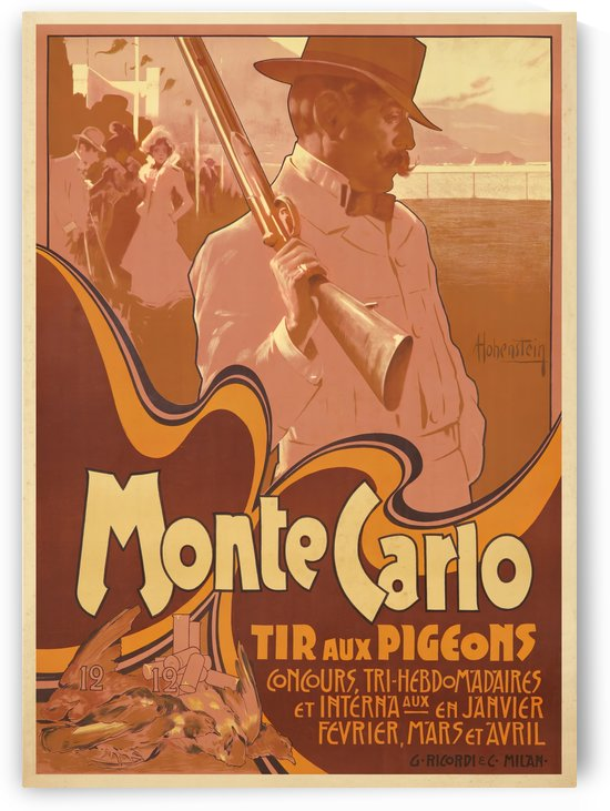 Monte Carlo Tir Aux Pigeons by VINTAGE POSTER