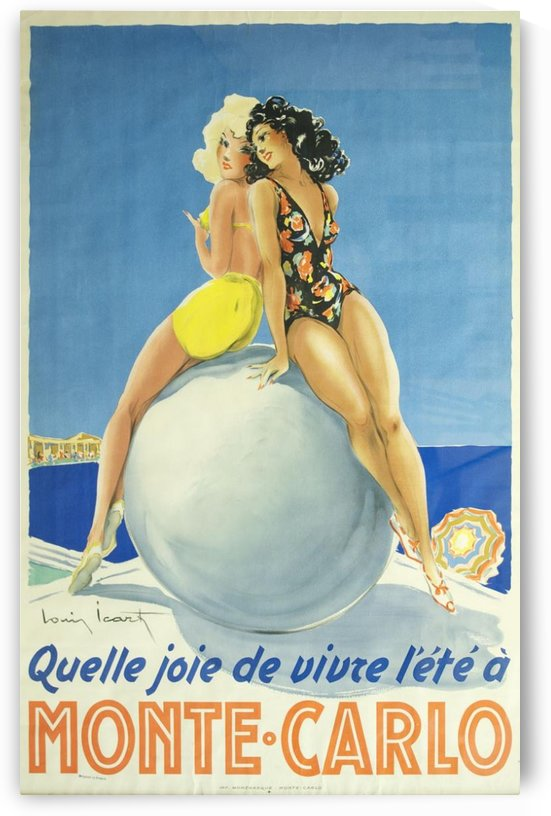 Vintage travel poster for Monte Carlo by VINTAGE POSTER