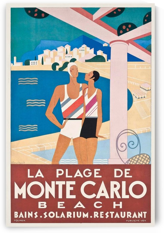 Vintage poster for Monte Carlo Beach by VINTAGE POSTER
