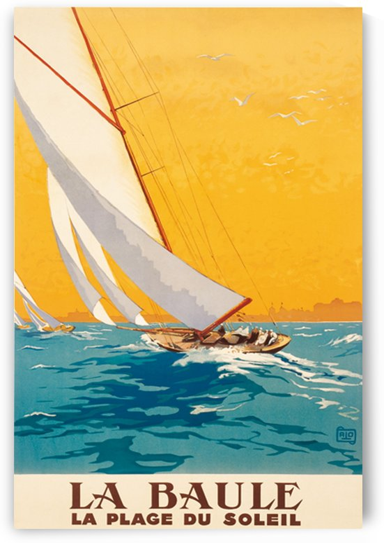 La Baule La Plage du Soleil vintage poster by VINTAGE POSTER