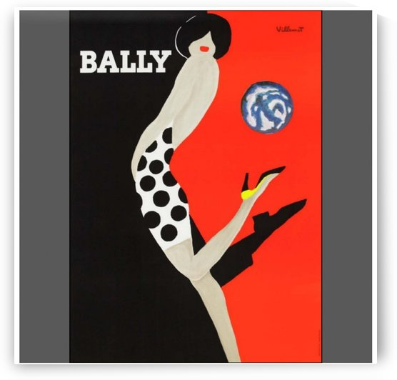 Vintage Art Villemot Red Bally Kick Poster Print by VINTAGE POSTER
